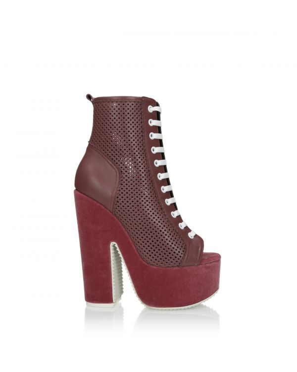 Women's ankle boots on a platform - John Galliano 2910 - 1