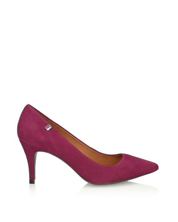 Purpurowe czółenka damskie na szpilce - 11006 - 1