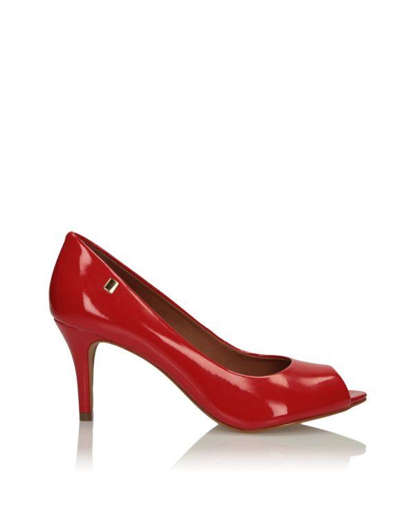 3i Red peep toe pumps - 11581 - 1