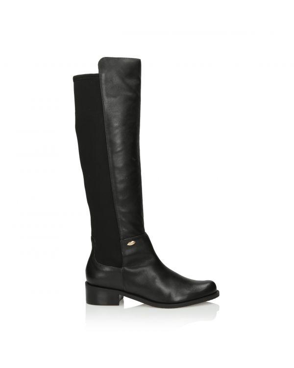 3i Black knee high boots - 24657 Preto - 1