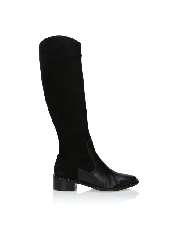 3i Black knee high boots - 65503 Preto - 1