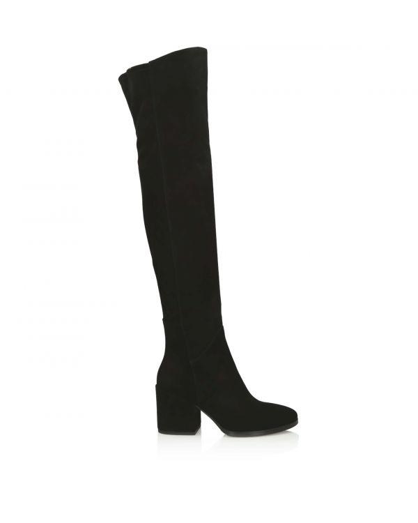 3i Black long length boots - B190119 Camoscio Nero - 1
