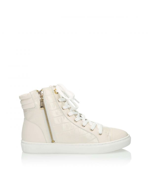 3i Cream ankle high trainers - 10991 - 1