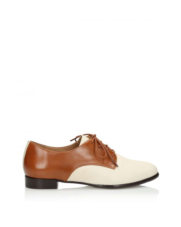 3i Nude and brown flat shoes - 11082 - 1