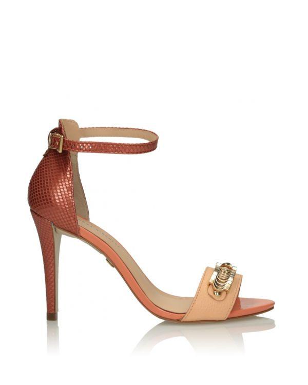 Różowe sandały damskie 3i - 9069 - 1
