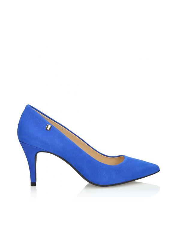 Niebieskie czółenka damskie na szpilce - 11321 - 1
