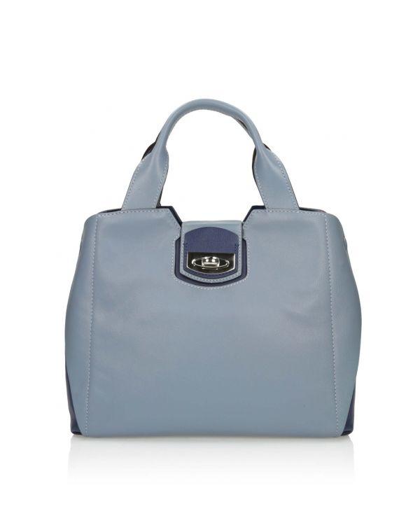 Popielato niebieska torebka damska 3i - 11674 - 1