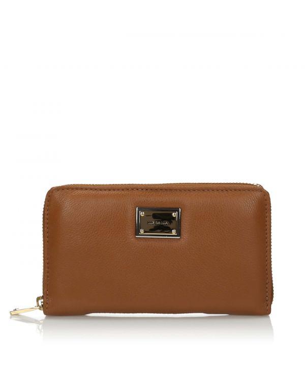 Brązowy skórzany portfel damski 3i - 10789 Cohiba - 1
