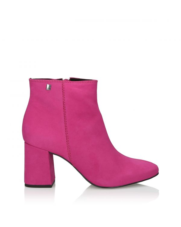 3i Pink Ankle Boots - 11007 Pink - 1