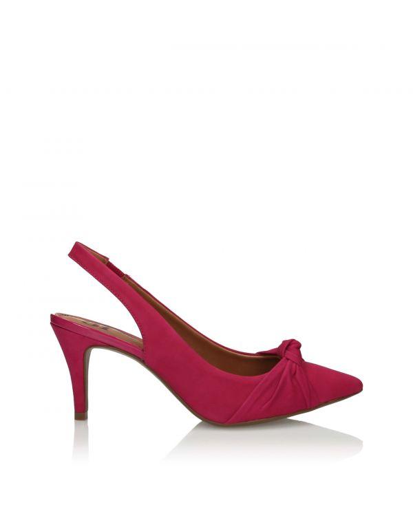 Różowe sandały damskie 3i na szpilce - 10871 Rosa - 1