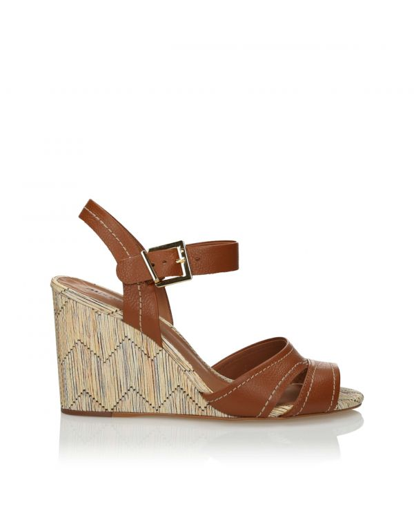 3i Brown wedge sandals - 10807 Linhaca - 1