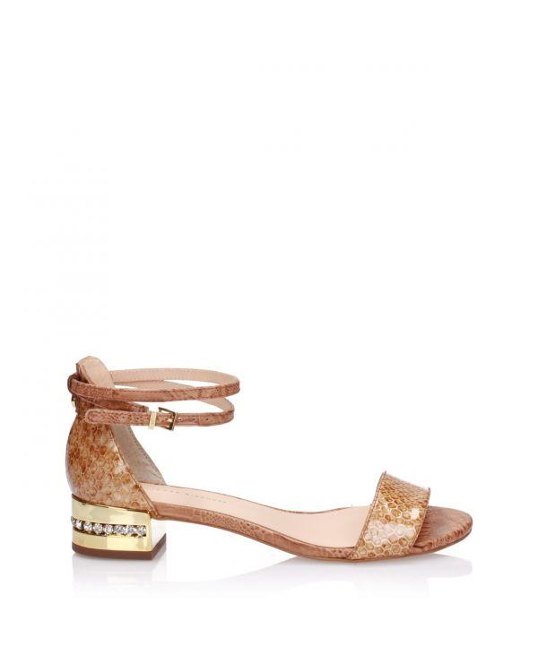 Miodowe sandały damskie 3i - J21058001X03 Light Honey - 1
