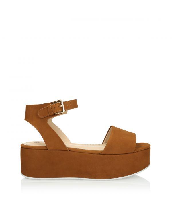 Brązowe sandały damskie 3i - L21135001X02 Topazio - 1