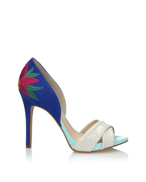 Multikolorowe sandały damskie 3i - L21001060X05 Azul - 1