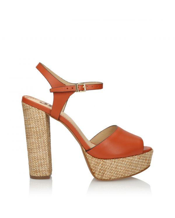 Orange high heeled 3i sandals - L210111029X03 - 1