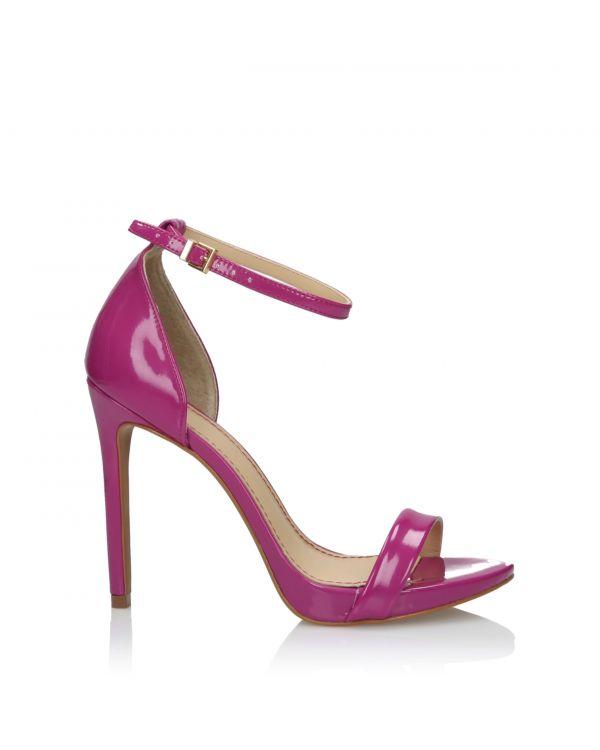 Różowe sandały damskie 3i na szpilce - L21119017X01 Dark Pink - 1