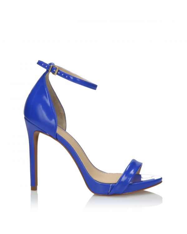 Blue high heeled sandals - L21119017X05 Mirtilo - 1