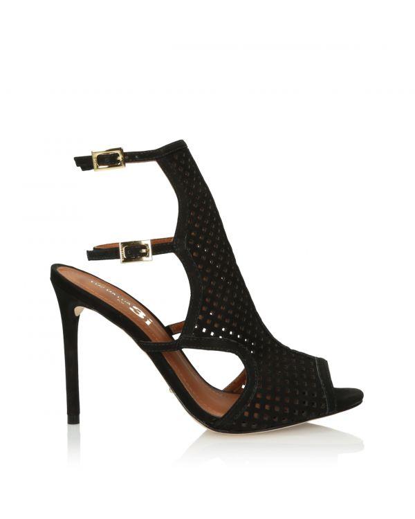 Black high heeled sandals 3i - S48502L Preto - 1
