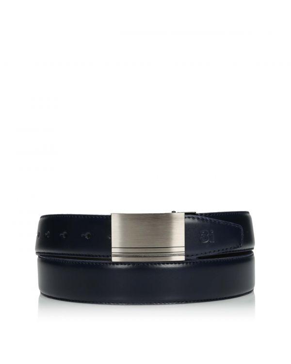 3i Elegant navy blue men's belt - LAC-032/30 - 1