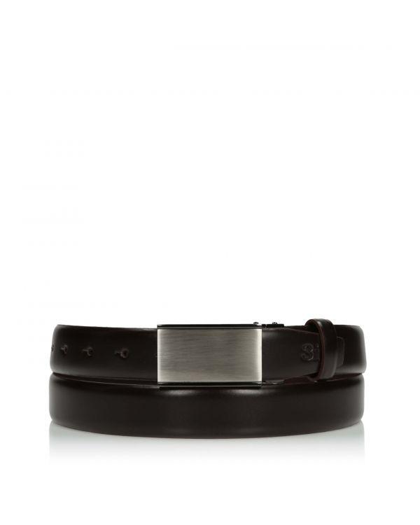 3i Elegant chocolate brown men's belt - LAC-032/30 - 1