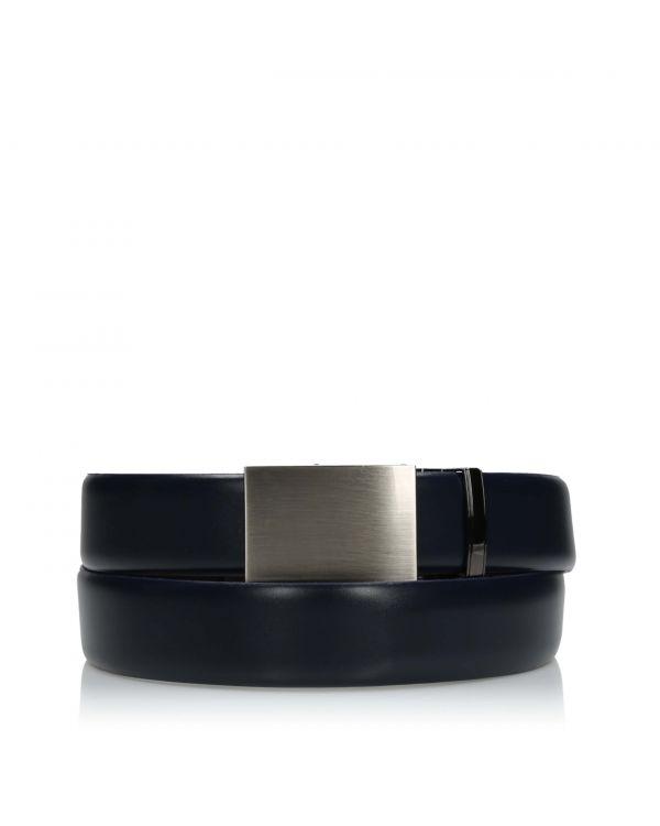 3i Elegant navy blue men's belt - LAC-034/32 - 1