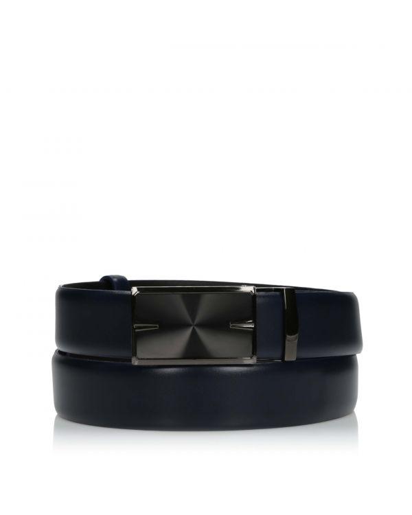 3i Elegant navy blue men's belt - LAC-042/32 - 1