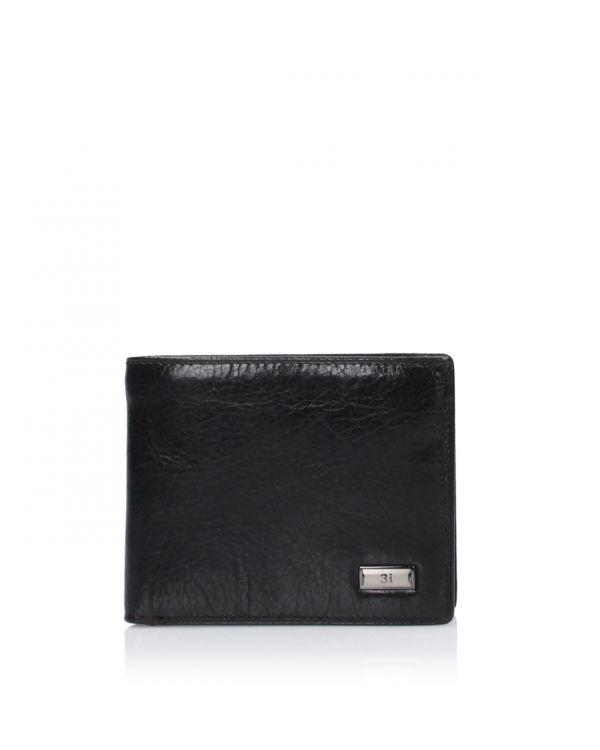 Skórzany portfel męski 3i - 142-1333 Black - 1