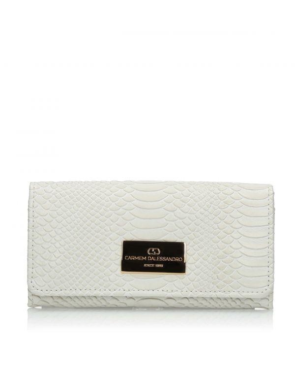 Biały skórzany portfel damski 3i - OTH-463 Off - 1