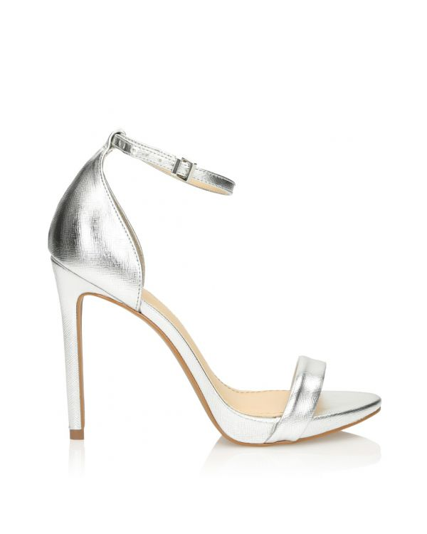 3i Silver high heeled sandals - 11433 - 1