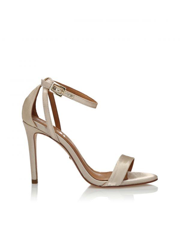 Beżowo-jasnozłote sandały sandały damskie 3i - 58228 Champagne - 1