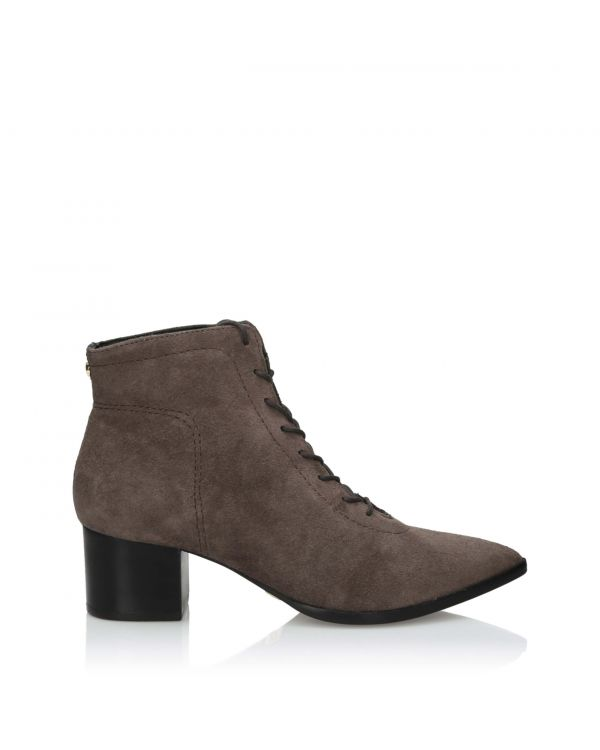 3i Grey laced ankle boots suede leather - 11001 - 1