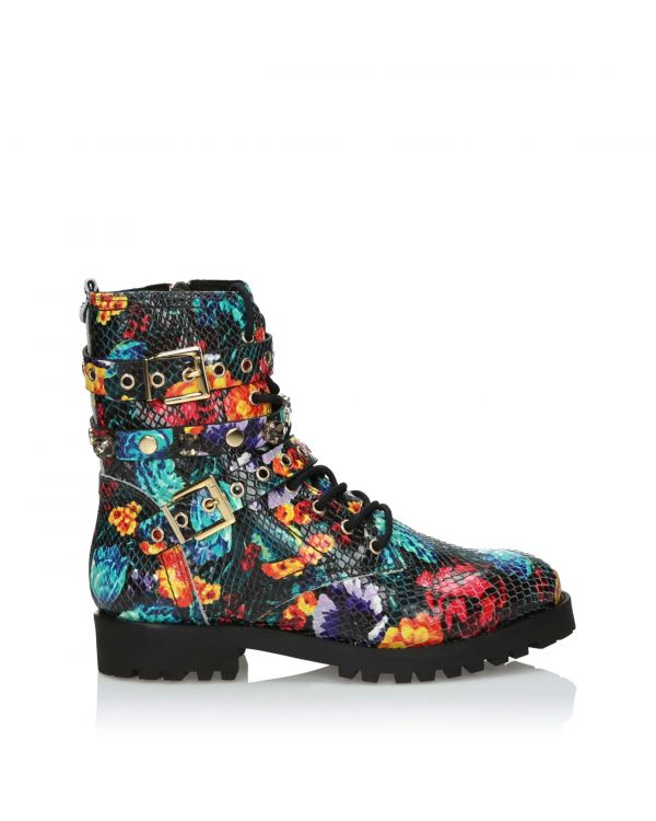 3i Multicolour Ankle Boots embossed leather - 11003 - 1