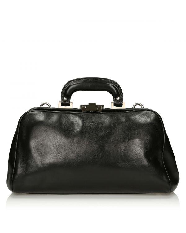 Czarna torba/kufer lekarski włoski męski 3i Chiarugi - 11076 - 1