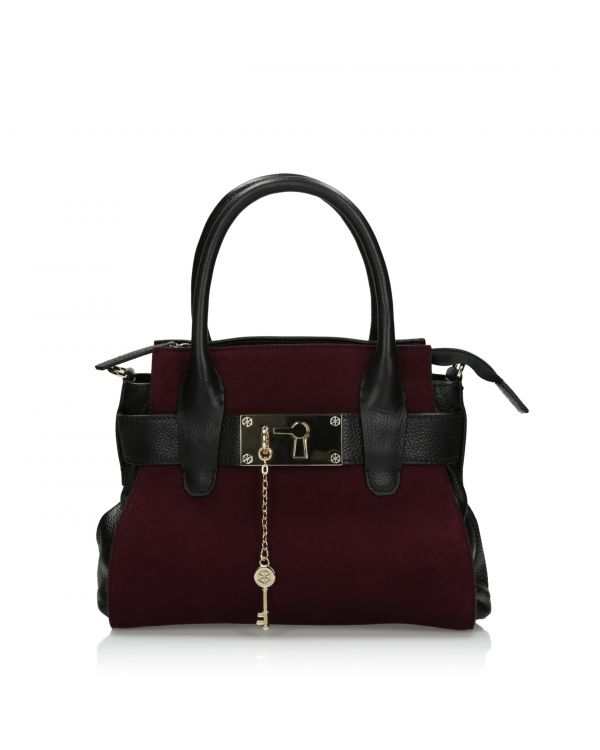 3i Black and burgundy bag by Dissona - 28034822 Nero/Purple - 1