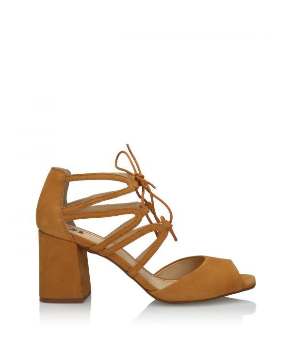 Jasnobrązowe sandały damskie 3i - L21120001X02 Light Brown - 1